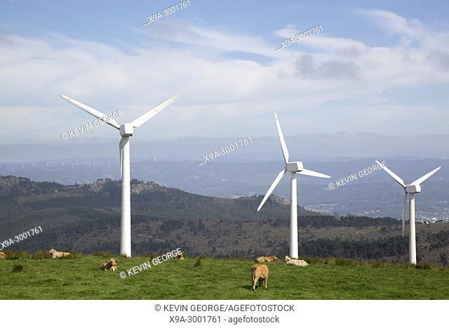 Wind Turbine at Vixia Herbeira, Ortigueira, Galicia; Spain