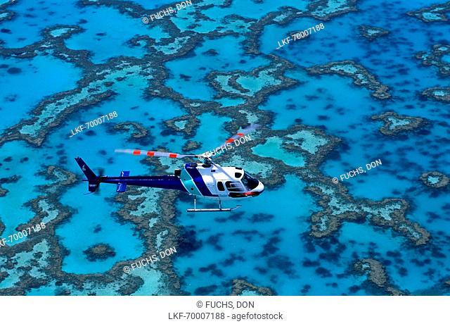 Aerial view, Heron Island, Great Barrier Reef Queensland, Australia
