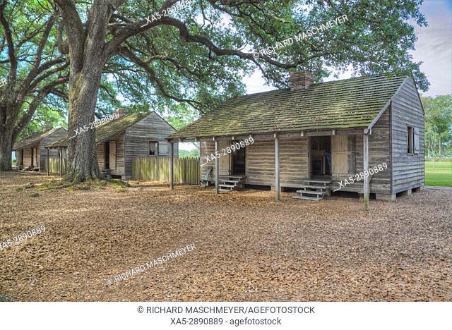 Slave Quarters, Oak Alley Plantation, Built 1830s, near St. James, Louisiana, USA