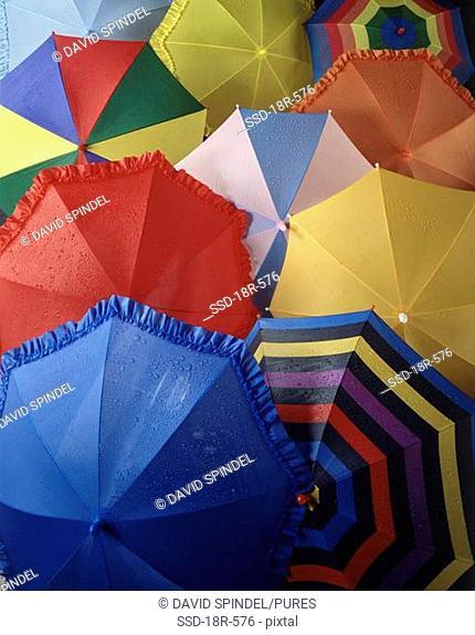 Array of umbrellas