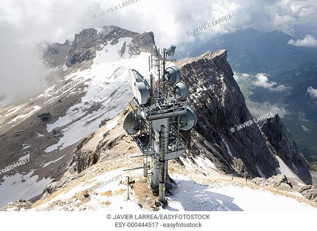 Zugspitze, Bavarian Alps, German/Austrian (Tyrol) border