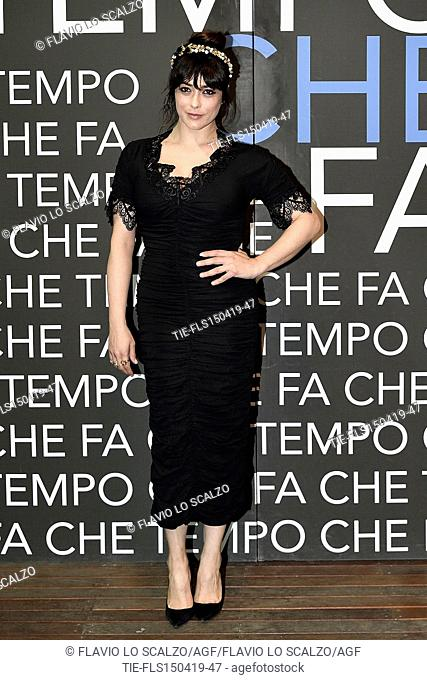 Valentina Lodovini during the tv show Che tempo che fa, Milan, ITALY-14-04-2019