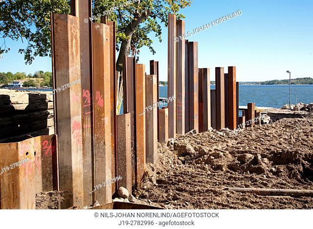Construction site Västervik, Sweden