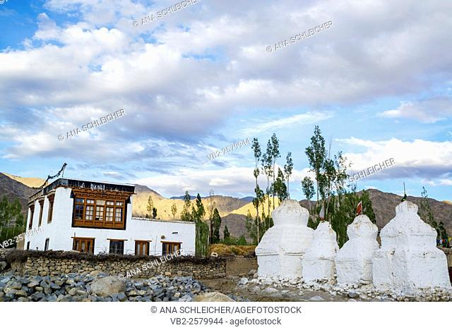 Traditional house in Thicksay, Ladakh, India