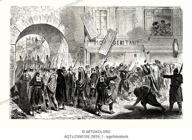 FRANCO-PRUSSIAN WAR: FRENCH PRISONNNIERS LEAVING SEDAN September 2 1870