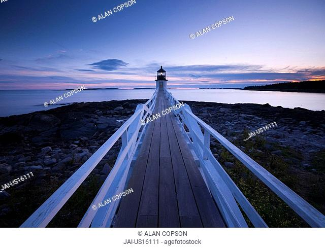 USA, Maine, Port Clyde, Marshall Point Lighthouse