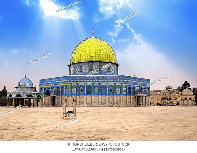 Dome of the Rock Islamic Mosque Temple Mount, Jerusalem, Israel, Middle East