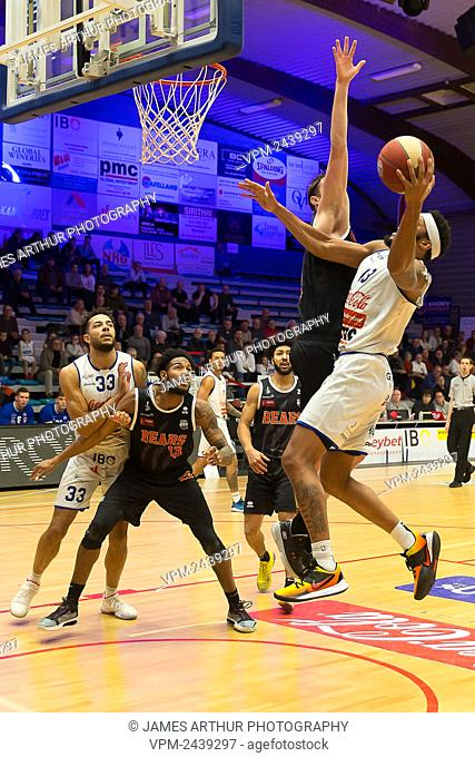 Mechelen's Marvin Clark II pictured in action during the basketball match between Kangoeroes Mechelen vs Leuven Bears, Friday 06 December 2019 in Mechelen