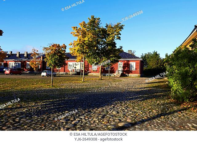 Old buildings at the Fortress of Lappeenranta, Finland
