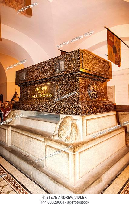 England, London, The City, St Paul's Cathedral, The Crypt, Wellington's Tomb