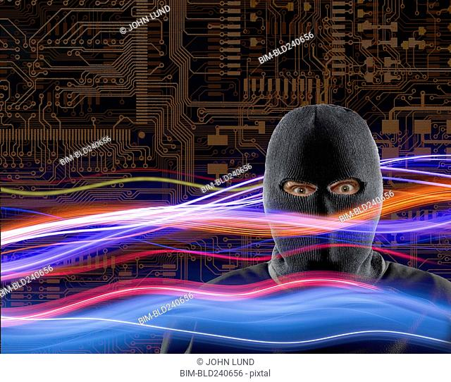 Criminal wearing ski mask in cyberspace