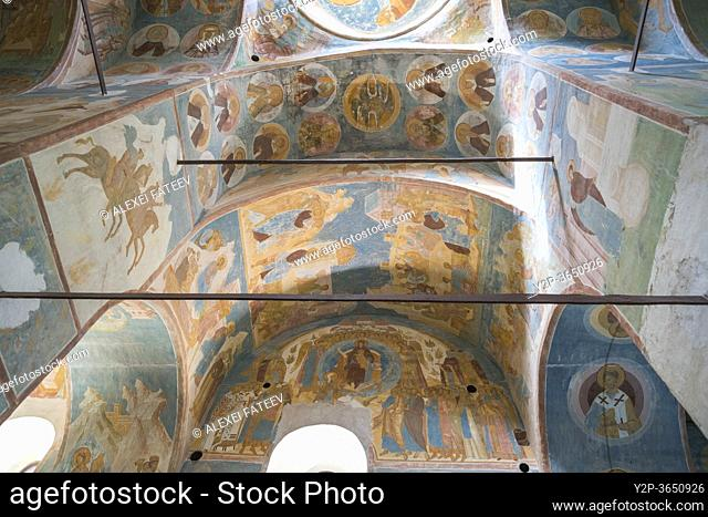 Frescoes by Dionisius inside Cathedral of Nativity of the Virgin in Ferapontov monastery, Russia
