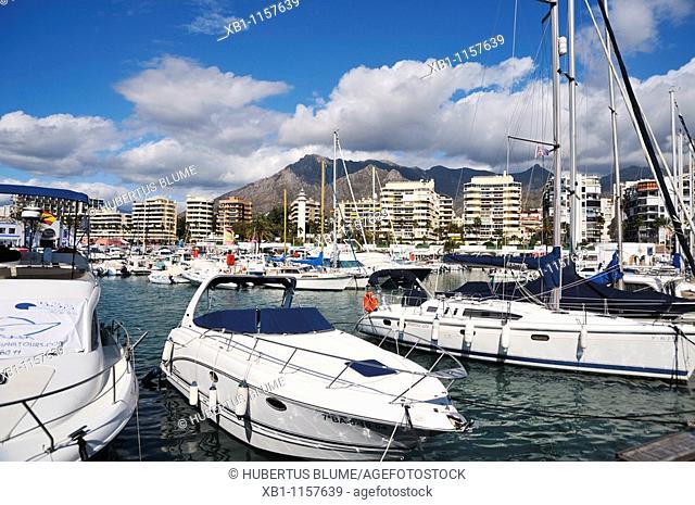 harbour of Marbella, Costa del Sol, province Malaga, Andalucia, Andalusia, Spain, Europe