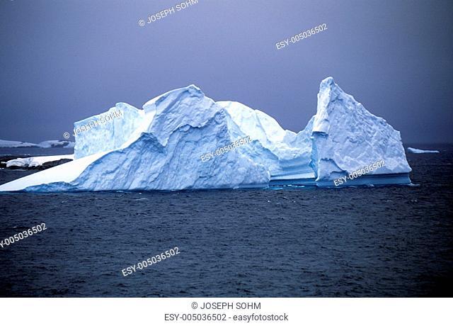 Icebergs in Errera Channel at Culverville Island, Antarctica