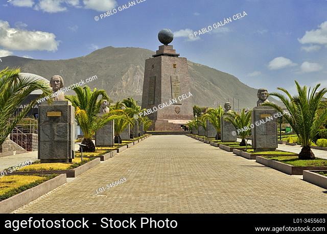 The Monument to the Equator, Ciudad Mitad del Mundo (Middle of the World City). Pichincha, Ecuador