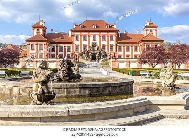 Baroque castle Troja, Prague, Czech Republic, Europe