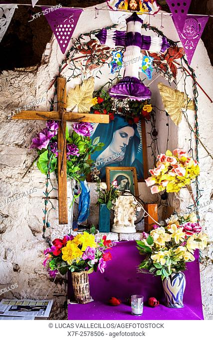 Mine of Bocamina San Cayetano (La Valenciana), chapel at the entrance where the miners prayed before entering the mine, Guanajuato, state Guanajuato, Mexico