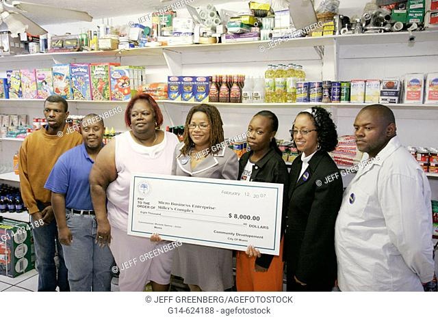 Florida. Miami. Liberty City. Miller's Complex. Convenience store. Micro business enterprise city funding, check