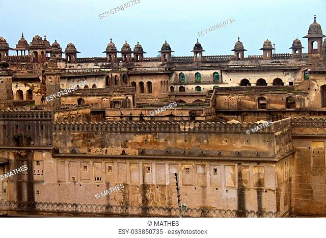 Exterior of palace in Orchha, India