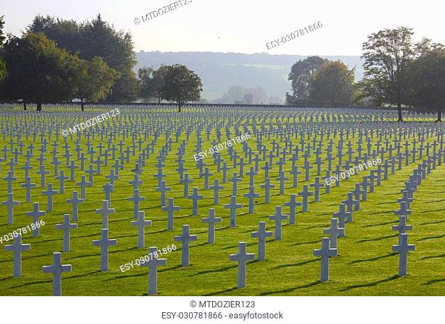 Henri-Chapelle American Cemetery in which nearly 8,000 brave soldiers are buried