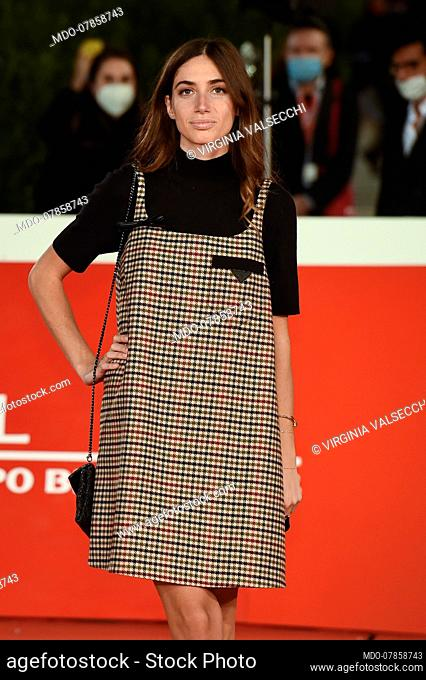 Italian actress Virginia Valsecchi at Rome Film Fest 2020. Mi chiamo Francesco Totti Red carpet. Rome (Italy), 17th October, 2020