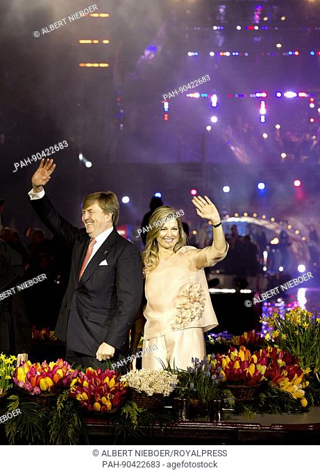 King Willem-Alexander and Queen Máxima of The Netherlands attends in Amsterdam, on May 5, 2017, the 5 mei concert in occasion of the Nationale Viering...