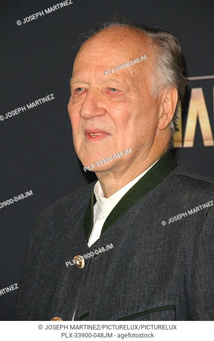 "Werner Herzog at """"The Mandalorian"""" Premiere held at El Capitan Theatre in Hollywood, CA, November 13, 2019. Photo Credit: Joseph Martinez / PictureLux"