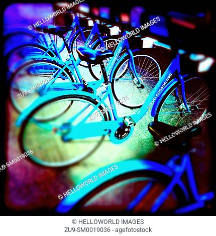 Rental hire bikes, St Petersburg, Russia
