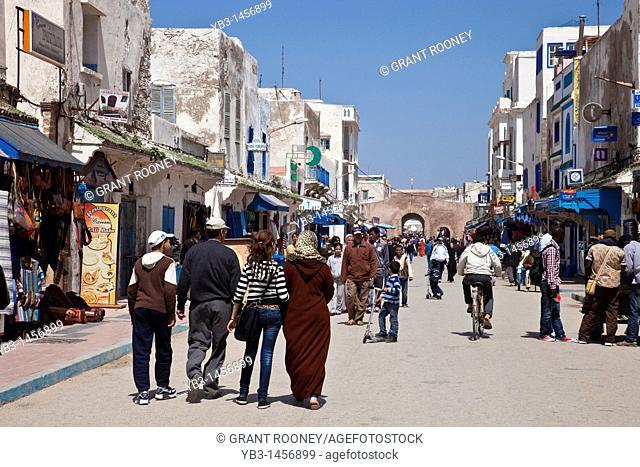 Avenue Zerktouni, The main street of the medina, Essaouira, Morocco