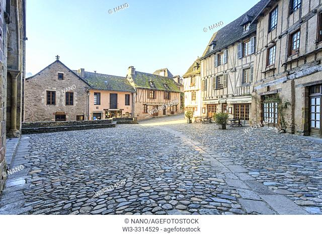 France, Aveyron, Conques, labelled Les Plus Beaux Villages de France (The Most Beautiful Villages of France), stop on El Camino de Santiago