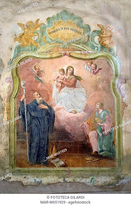 MONASTERO SANTA GRATA -Madonna col Bambino, San Benedetto e Santa Grata con la testa di Sant'Alessandro- di Vincenzo Angelo Orelli (1751-1813)