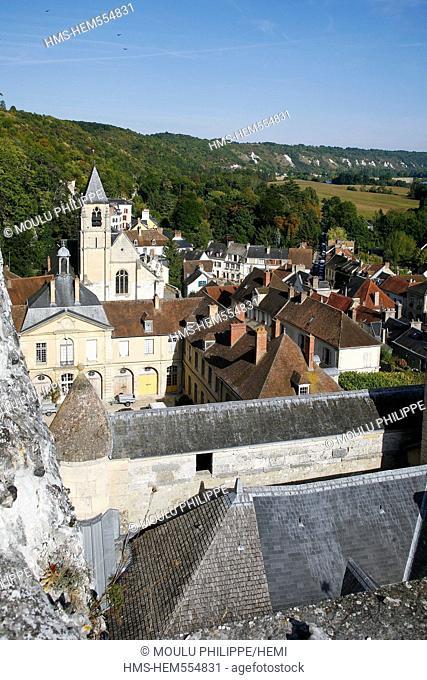 France, Val d'Oise, French Vexin Natural Regional Park, La Roche Guyon, labelled Les Plus Beaux Villages de France The Most Beautiful Villages of France