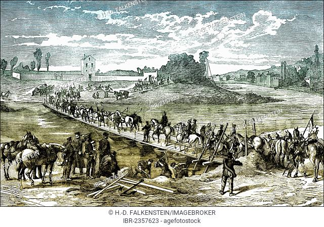 Historical photograph, siege of Paris, Franco-Prussian War or Franco-German War, 1870-1871, between the French Empire and the Kingdom of Prussia