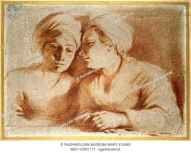 Two Women Seated. Giovanni Francesco Barbieri, called Guercino