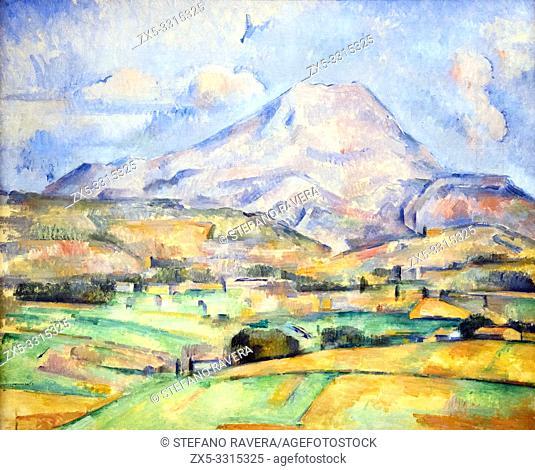 Paul Cezanne (Aix en Provence (FR) 1839-1906). La Montagne Sainte Victoire, c 1888. oil on canvas