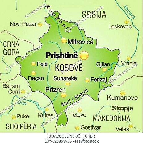 Karte Von Kosovo Als Stock Photos And Images Agefotostock