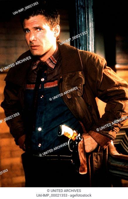 Blade Runner, (BLADE RUNNER) USA 1982, Regie: Ridley Scott, HARRISON FORD, Key: Colt, Waffe, Revolver, Holster