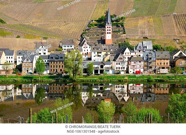 Zell-Merl on the Moselle in springtime