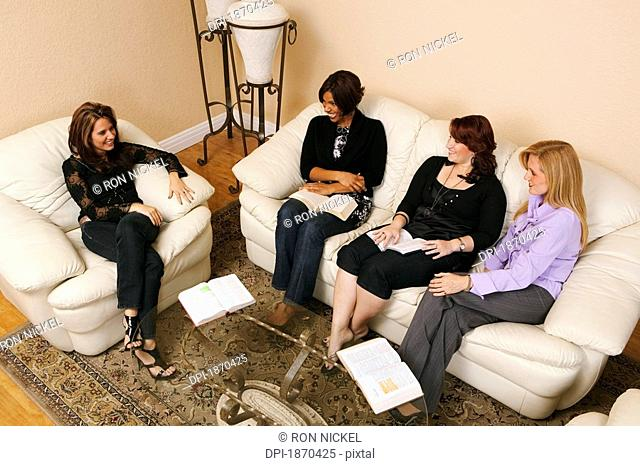 women having a bible study