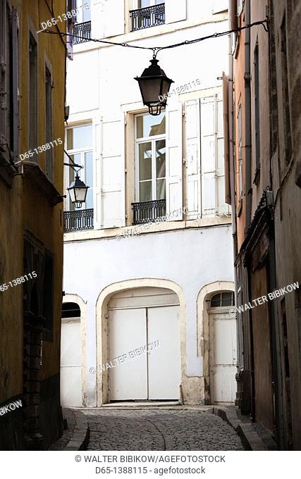 France, Haute-Loire Department, Auvergne Region, Le Puy-en-Velay, town buildings