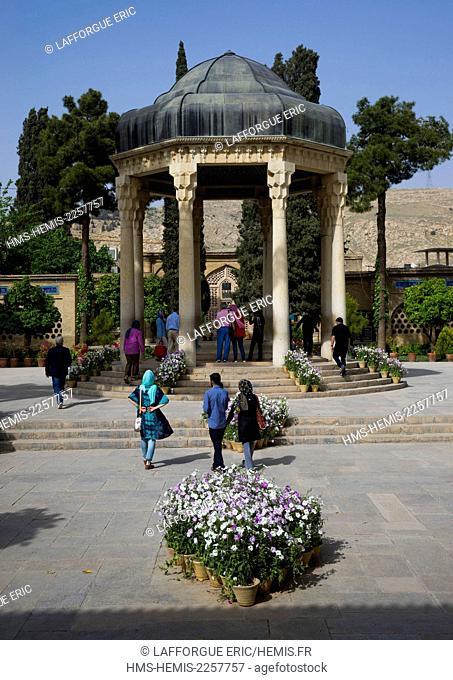 Iran, Fars Province, Shiraz, tomb of persian poet hafez