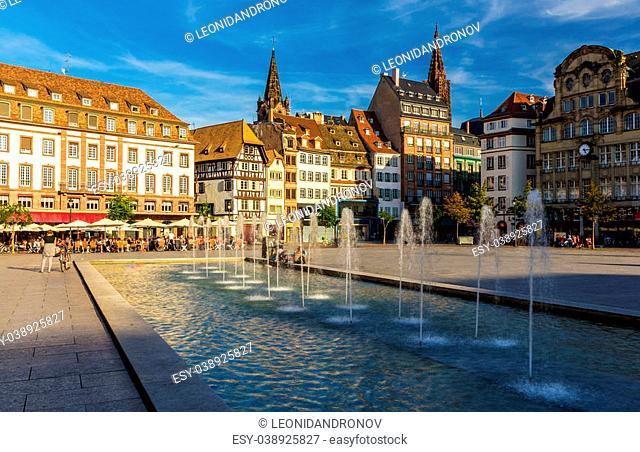 Place Kleber in Strasbourg - Alsace, France