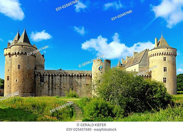 the château de suscinio on the peninsula rhuys-