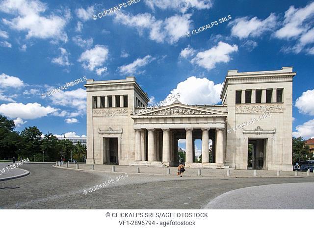 Propyläen Koenigsplatz Munich Bavaria southern Germany Europe