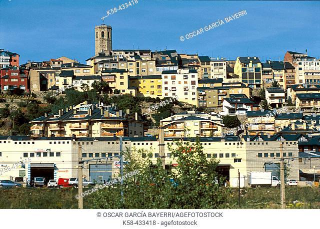 Industrial park. Puigcerdà. Cerdanya. Girona province. Catalonia. Spain