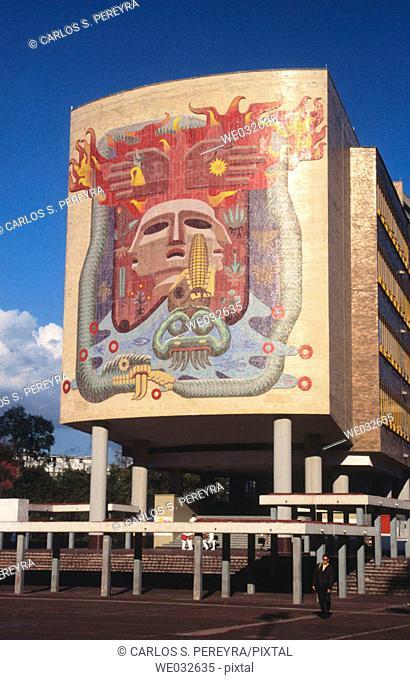 Mural by Francisco Eppens Helguera at Faculty of Medicine, National Autonomous University of Mexico (Spanish: Universidad Nacional Autónoma de México