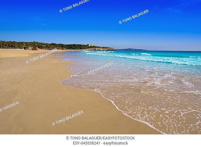 Tarragona Platja de L'Arrabassada in Costa Dorada of Catalonia