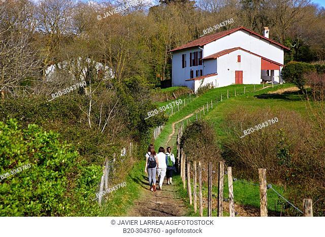 Larretxea farm, Domaine D'Abbadia, Hendaye, Pyrénées-Atlantiques department, Aquitaine region, France, Europe