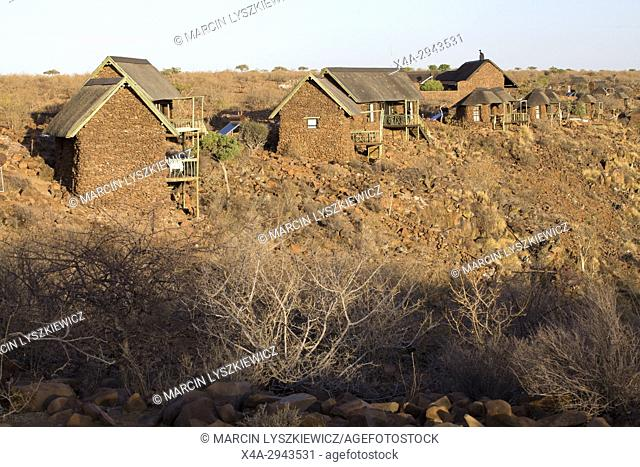 Tourist huts in Grootberg Lodge, Namibia