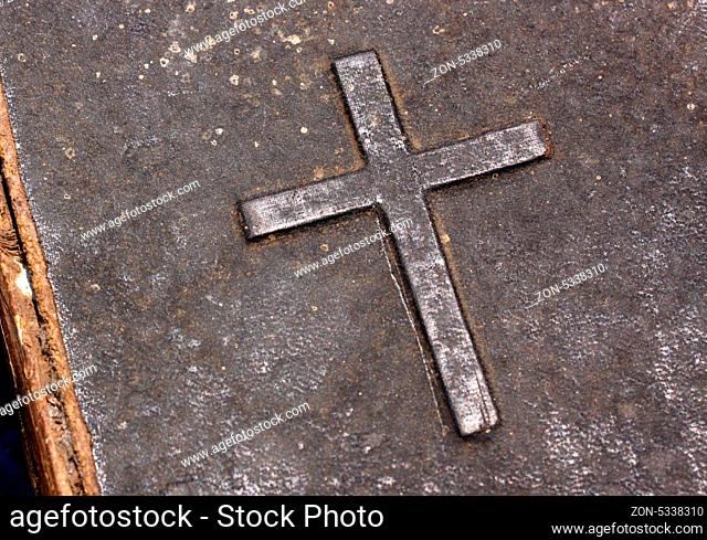 Close up of an old Holy cross